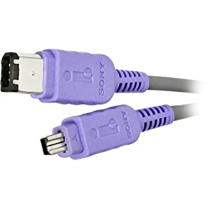 Sony VMC-IL4615 1.5 Meter i.LINK 4-Pin to 6-Pin Digital Video Transfer Cable for most Sony Camcorders