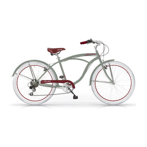 Bicicleta clásica verde militar