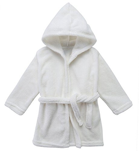 Toddler Unisex Baby Robe Hooded Fleece Bathrobe and Towel for Kids 9-36 Month