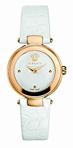 Versace Mystique Women's Quartz Watch with White Dial Analogue Display and White Leather Strap M5Q80D001 S001