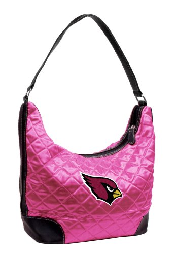 Little Earth Arizona Cardinals Pink Quilted Hobo Purse from Littlearth