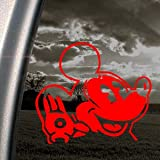 OLD DISNEY MICKEY MOUSE Red Decal Truck Window Red Sticker