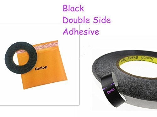 Niutop® 50M Meters 1Mm,2Mm,5Mm,8Mm,10Mm Black White Sticker Double Side Adhesive Glue Tape For Macbook Pro Screen, Ipad 1 2 3 4 5, Tablet Pc,Etc,Samsung Lg Htc Sony Motorola Moto Google Nexus 4 5 7 10 Iphone 4 4S 5 5S 6 6 Plus Most Phone Lcd Display Panel