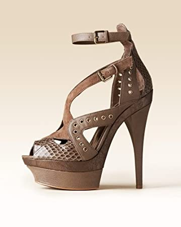 bebe Sienna Leather Sandal