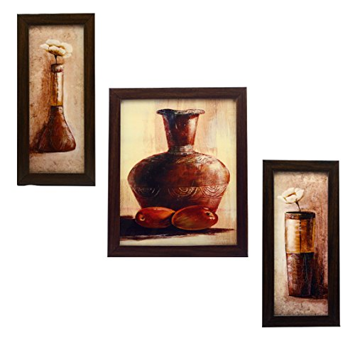 3 PIECE SET OF FRAMED WALL HANGING ART - B018IIBC16