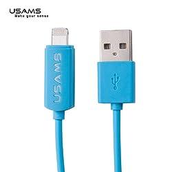 USAMS uLine LED Data Transfer & Charging cable for iPhone5/5S/6/6Plus/iPad Mini/iPadAir- BLUE