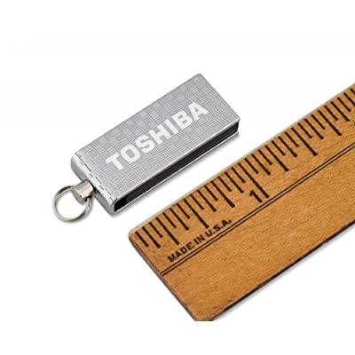 Toshiba 16 GB Micro Swivel USB Flash Drive, Chrome (PA3879U-1MAS)