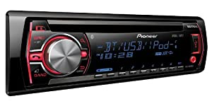Pioneer DEHX6500BT In-Dash CD/MP3/USB Car Stereo Receiver with A2DP Bluetooth, Pandora Link, MIXTRAX, iPod Support and AUX