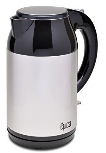 Epica Cordless Stainless Steel Electric Kettle 1.7 Liter Stay-Cool Double Wall (Epica Electric Kettle compare prices)