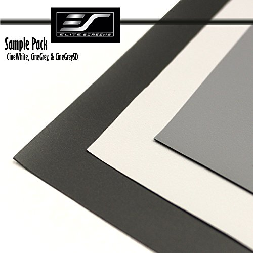 Best Price! Elite Screens Projection Screen Material Sample Pack Includes 3 Samples. SamplePack3