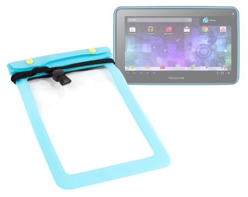 DURAGADGET Blue All-Purpose Waterproof Tablet Dry Pouch With Neck Strap For Visual Land Prestige Pro 7