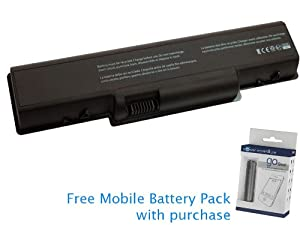 Gateway NV53 Battery 49Wh, 4400mAh with free Mobile Battery Pack