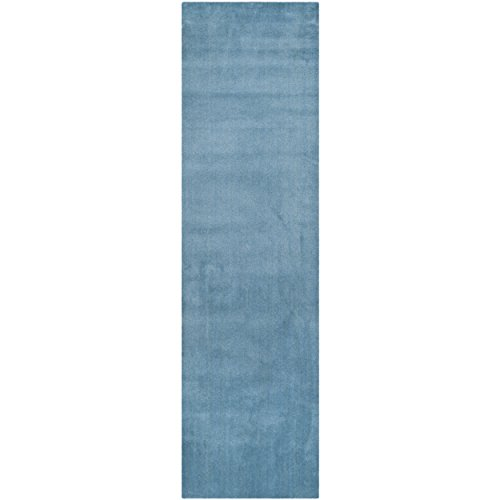 Safavieh Himalaya Collection HIM610D Handmade Blue Wool Runner, 2 feet 3 inches by 14 feet (2'3