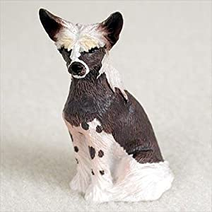 Chinese Crested Miniature Dog Figurine