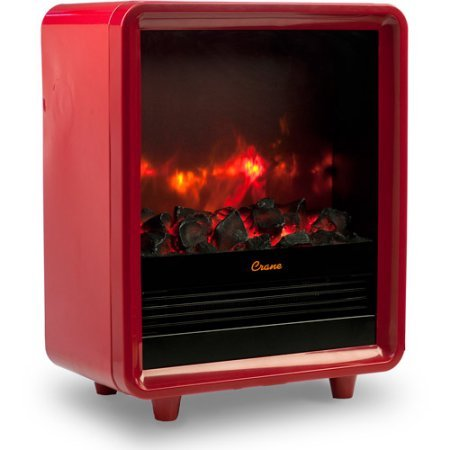 Red Electric Mini Fireplace Indoor Heater (Crane Electric Heater compare prices)