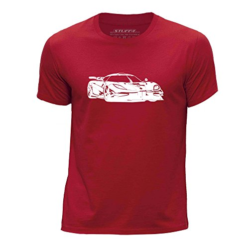 stuff4-boys-age-12-14-152-164cm-red-round-neck-t-shirt-stencil-car-art-one-1