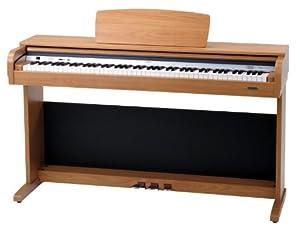 Classic Cantabile DP-40 B Digitalpiano mit 88 Tasten (Stereo Aux-Out/Aux-In, USB-Port), buche