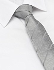 Limited Collection Silk Rich Glitter Effect Striped Tie