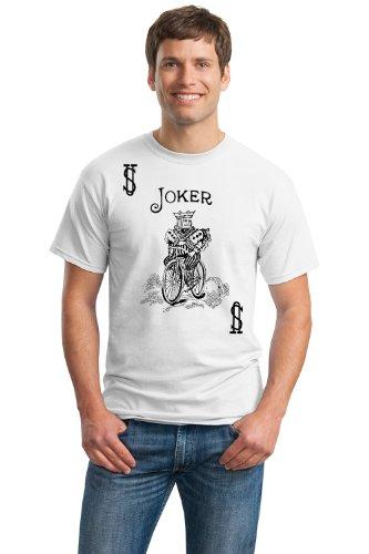 [JOKER CARD Unisex T-shirt / Card Costume Tee Shirt, Magic Trick Tee-White-Medium] (Card Joker Costumes)