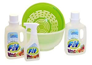 Fit Organic Fruit & Vegetable Wash, Combo Pack, 7.5 Pound Box
