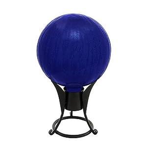 Achla Designs 12-Inch Crackle Gazing Globe, Blue