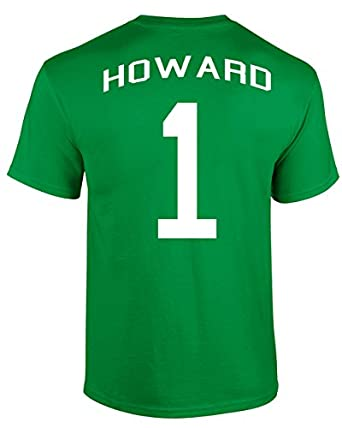 Jacted Up Tees Tim Howard US National Soccer Team Front and Back Men's T-Shirt - Small Green (926)