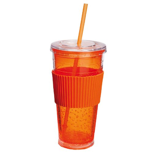 Freezeable Insulated Cup Color: Orange front-589089
