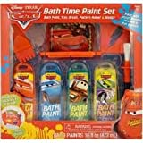 Disney Cars Bath Time Paint Set Bath and Paint, Paint Tray and Brush