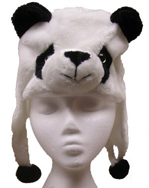 Panda Hat With Poms