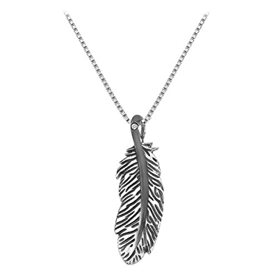 Hot Diamonds Feather Pendant with Chain of Length 40-46cm