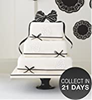 Black and Ivory Fruit Wedding Cake