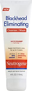 Neutrogena Blackhead Eliminating 2-1 Cleanser/Mask, 0.25-Pound