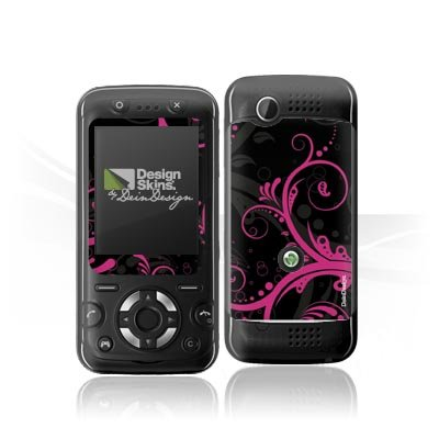 Design Skins für Sony Ericsson F305 - Black Curls Design Folie [Elektronik]