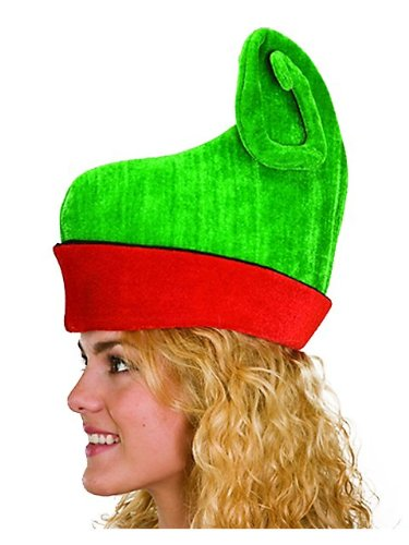 Jacobson Hat Company Women's Elf Hat, Red/Green, One Size - 1