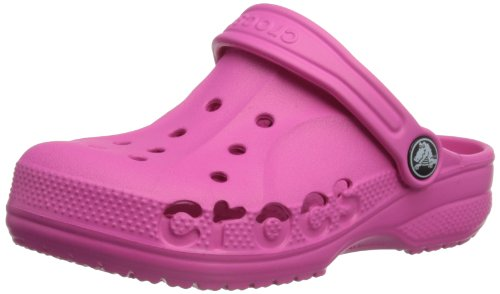 Crocs Baya Kids Shoes,Fuchsia,J1/3 front-1085823