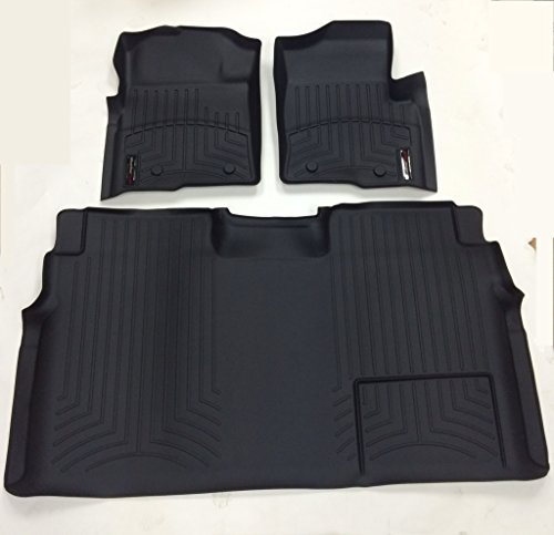 Weathertech 446111-441793 1st & 2nd Row Black Floor Liner for 2009 - 2013 Ford F-150 (Weathertech Floor Mats 446111 compare prices)