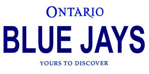 LP-2101 Toronto Canada Province Background License Plates- Blue Jays