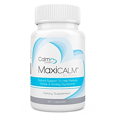 Anxiety & Stress Relief Supplement - MaxiCalm By CalmSmart. Powerful, All Natural Anti-Anxiety & Stress Reduction Herbal Pills (60 Caps). Helps Relieve Symptoms Of Anxiety, Stress, Panic, Social Anxiety & Insomnia. Take Relaxation Back!