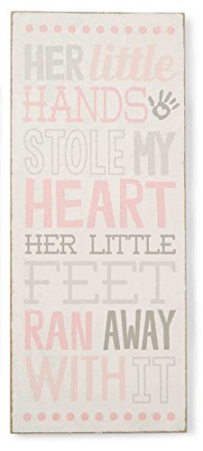 Mud Pie Plaque, Little Hands, Pink