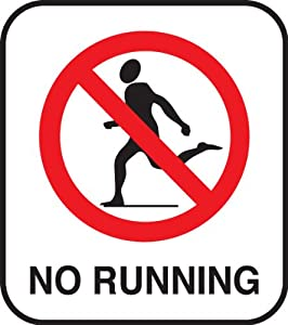 No Running Sign In Water Swimming Pool Water Fe...