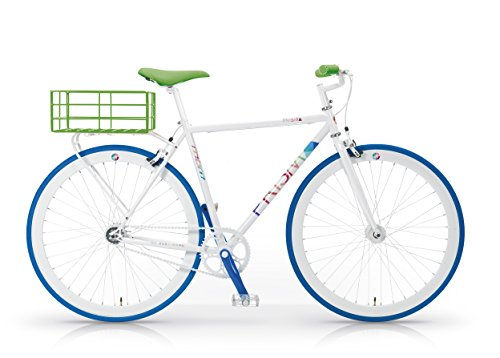 Bicicletta uomo prisma city bike ibrida + cestino minimal mbm