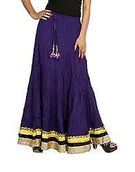 Sringar Women's Skirt (As1037_Blu_Blue_40)