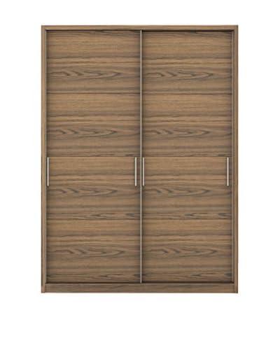 Manhattan Comfort Bellevue 4-Drawer/2-Door Wardrobe, Chocolate