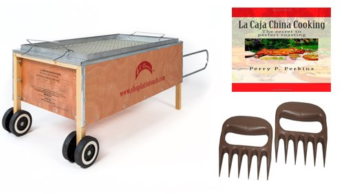 Caja China Roasting Box Pig Roaster 70lbs w/ free Cookbook and Bear Paws ... (China Box Pig Roaster compare prices)