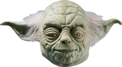 Star Wars Yoda Adult Full Latex Mask, Green, One Size