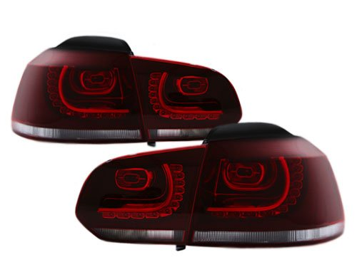 2010-2013 Vw Golf/Gti Mk6 Led Euro Dark Cherry Red Led Taillights