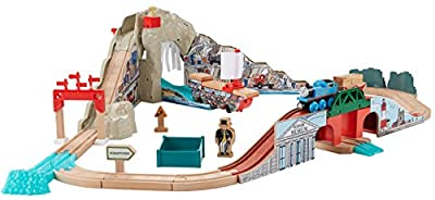 Fisher-Price Thomas the Train Wooden Railway Pirate Cove Discovery Set Train Set by Fisher Price