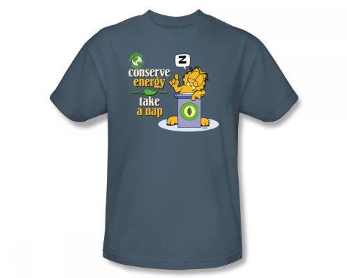 Garfield-Conserve di energia In Ardesia-Maglietta a maniche corte, da adulto