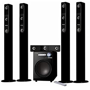 Frisby Tower Wireless Surround Sound Home Theater Speaker System with Remote SD USB