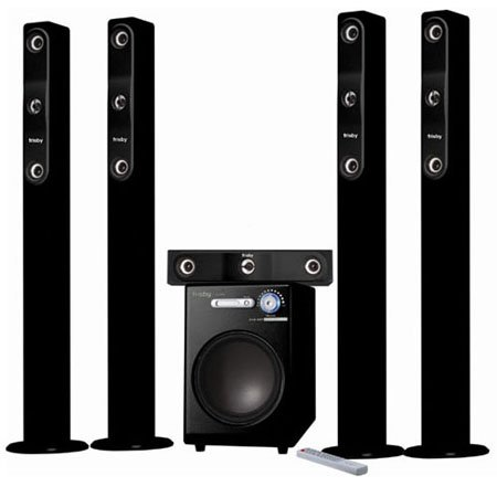 frisby tower wireless surround sound home theater speaker. Black Bedroom Furniture Sets. Home Design Ideas